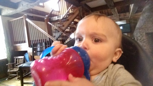 Sippy cup is serious business.